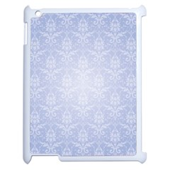 Damask Pattern Wallpaper Blue Apple Ipad 2 Case (white)