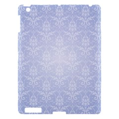 Damask Pattern Wallpaper Blue Apple Ipad 3/4 Hardshell Case