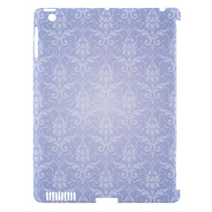 Damask Pattern Wallpaper Blue Apple Ipad 3/4 Hardshell Case (compatible With Smart Cover)