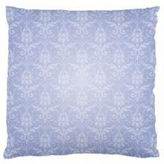Damask Pattern Wallpaper Blue Large Cushion Case (two Sides)