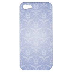 Damask Pattern Wallpaper Blue Apple Iphone 5 Hardshell Case