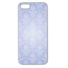 Damask Pattern Wallpaper Blue Apple Seamless Iphone 5 Case (clear)