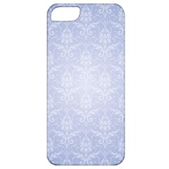 Damask Pattern Wallpaper Blue Apple Iphone 5 Classic Hardshell Case
