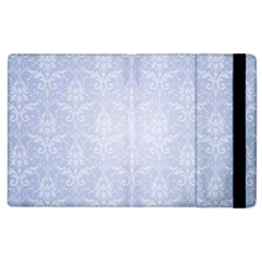 Damask Pattern Wallpaper Blue Apple Ipad 3/4 Flip Case