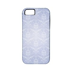 Damask Pattern Wallpaper Blue Apple Iphone 5 Classic Hardshell Case (pc+silicone)