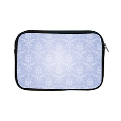 Damask Pattern Wallpaper Blue Apple Ipad Mini Zipper Cases