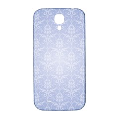 Damask Pattern Wallpaper Blue Samsung Galaxy S4 I9500/i9505  Hardshell Back Case