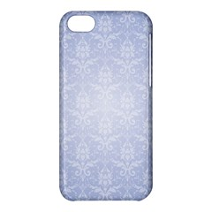 Damask Pattern Wallpaper Blue Apple Iphone 5c Hardshell Case