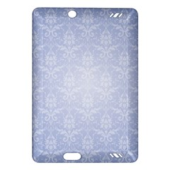 Damask Pattern Wallpaper Blue Amazon Kindle Fire Hd (2013) Hardshell Case