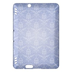 Damask Pattern Wallpaper Blue Kindle Fire Hdx Hardshell Case