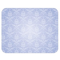 Damask Pattern Wallpaper Blue Double Sided Flano Blanket (medium)