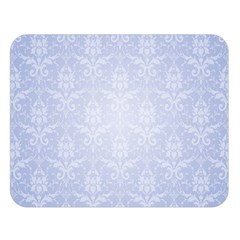 Damask Pattern Wallpaper Blue Double Sided Flano Blanket (large)