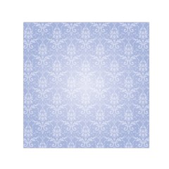 Damask Pattern Wallpaper Blue Small Satin Scarf (square)