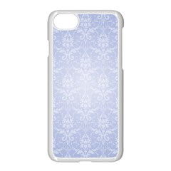 Damask Pattern Wallpaper Blue Apple Iphone 7 Seamless Case (white)