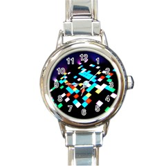 Dance Floor Round Italian Charm Watch