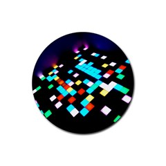 Dance Floor Rubber Round Coaster (4 Pack)