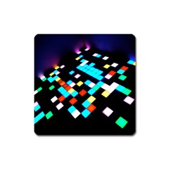 Dance Floor Square Magnet