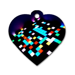 Dance Floor Dog Tag Heart (two Sides)