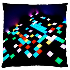 Dance Floor Large Flano Cushion Case (two Sides)