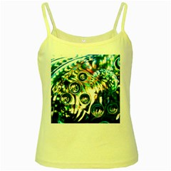Dark Abstract Bubbles Yellow Spaghetti Tank
