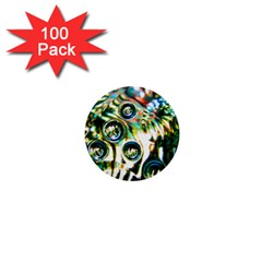 Dark Abstract Bubbles 1  Mini Buttons (100 pack)