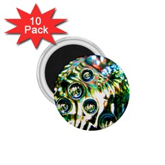 Dark Abstract Bubbles 1 75  Magnets (10 Pack)