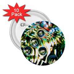 Dark Abstract Bubbles 2.25  Buttons (10 pack)