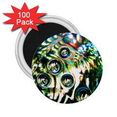 Dark Abstract Bubbles 2 25  Magnets (100 Pack)