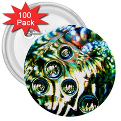 Dark Abstract Bubbles 3  Buttons (100 pack)