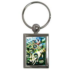 Dark Abstract Bubbles Key Chains (rectangle)