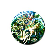 Dark Abstract Bubbles Magnet 3  (round)