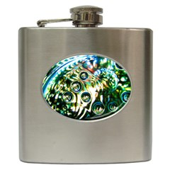 Dark Abstract Bubbles Hip Flask (6 oz)