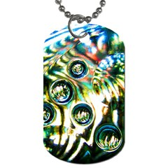 Dark Abstract Bubbles Dog Tag (two Sides)