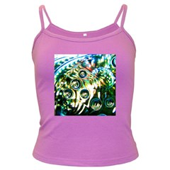Dark Abstract Bubbles Dark Spaghetti Tank