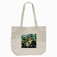 Dark Abstract Bubbles Tote Bag (cream)