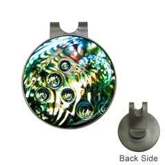Dark Abstract Bubbles Hat Clips With Golf Markers