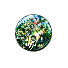 Dark Abstract Bubbles Hat Clip Ball Marker (4 Pack)
