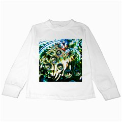 Dark Abstract Bubbles Kids Long Sleeve T Shirts