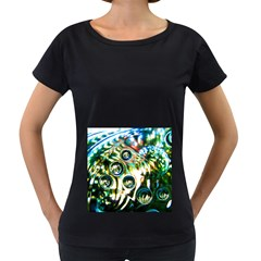 Dark Abstract Bubbles Women s Loose Fit T Shirt (black)
