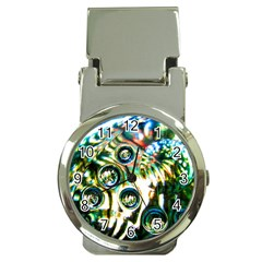 Dark Abstract Bubbles Money Clip Watches