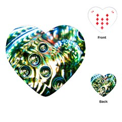 Dark Abstract Bubbles Playing Cards (heart)