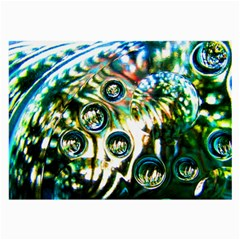 Dark Abstract Bubbles Large Glasses Cloth (2 Side)