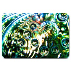 Dark Abstract Bubbles Large Doormat