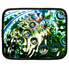 Dark Abstract Bubbles Netbook Case (large)