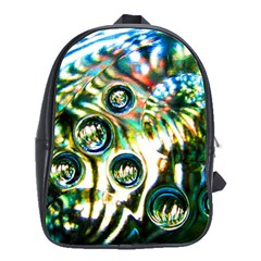 Dark Abstract Bubbles School Bags(large)