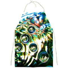 Dark Abstract Bubbles Full Print Aprons