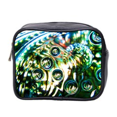 Dark Abstract Bubbles Mini Toiletries Bag 2 Side