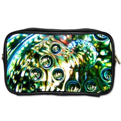 Dark Abstract Bubbles Toiletries Bags 2 Side