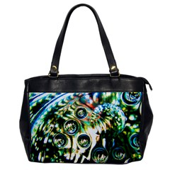 Dark Abstract Bubbles Office Handbags