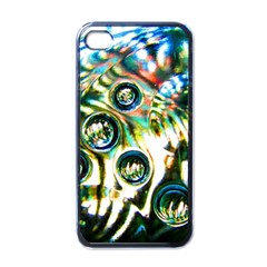 Dark Abstract Bubbles Apple Iphone 4 Case (black)